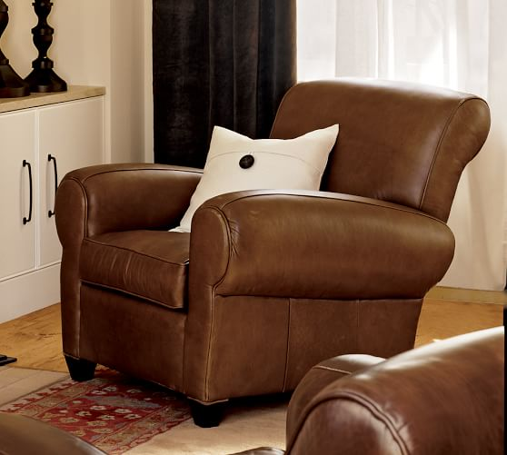 pottery barn leather recliner 2