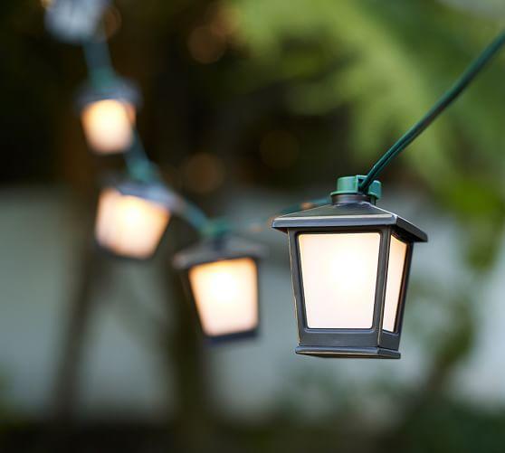 String Lights In Lantern : Malta Mini Lantern String Lights Pottery Barn