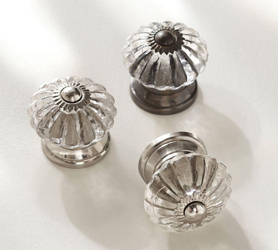 Pottery Barn Furniture Hardware: Vintage Glass Round Knob