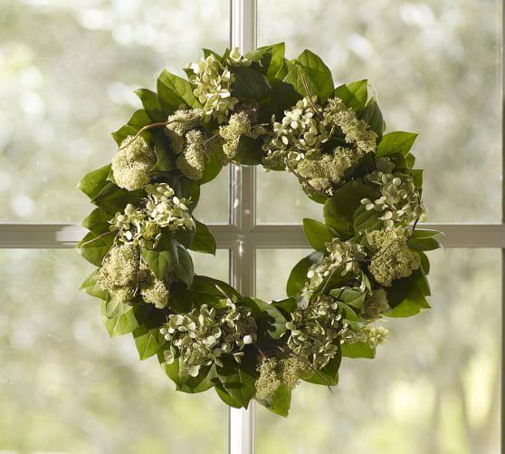Live Willow & Hydrangea Wreath
