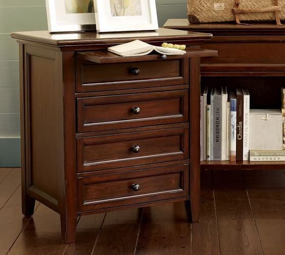 Hudson 4 Drawer Bedside Table Pottery Barn