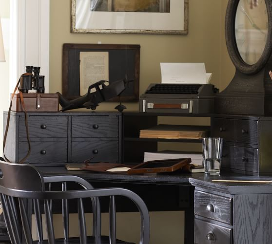 Printer 39 s corner desk hutch pottery barn for Pottery barn printer s desk reviews