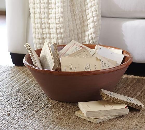 Pottery Barn Furniture Return Policy: Deep Ceramic Bowl