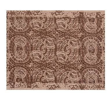Bosworth printed rug espresso pottery barn - Discontinued pottery barn rugs ...