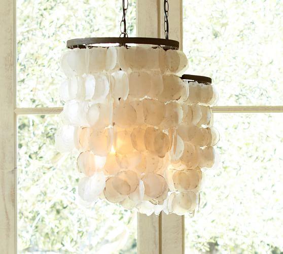 capiz chandelier pottery barn