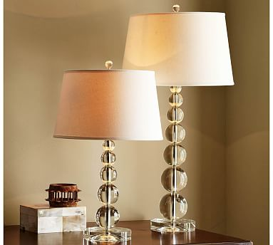 Stacked Crystal Table Amp Bedside Lamp Base Pottery Barn