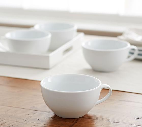 Great White Cappuccino Mug, Set of 4