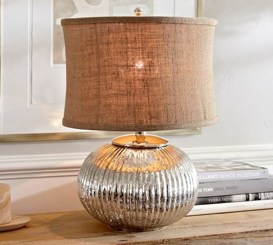 celia mercury glass table lamp base pottery barn. Black Bedroom Furniture Sets. Home Design Ideas