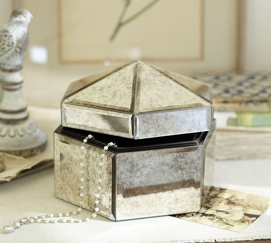 Antique Mirror Small Jewelry Box Pottery Barn
