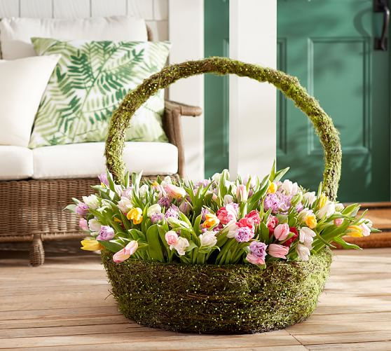 Outdoor Large Easter Basket Pottery Barn
