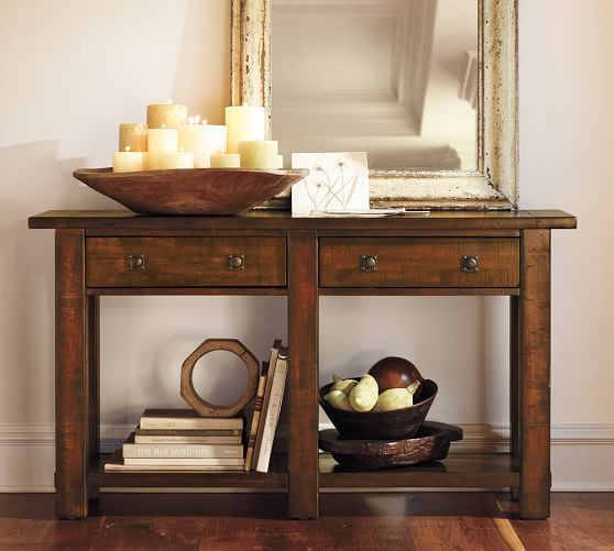 Benchwright Console Table Pottery Barn