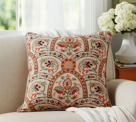 Pottery Barn Decorative Pillow Covers : Harland Print Pillow Cover Pottery Barn