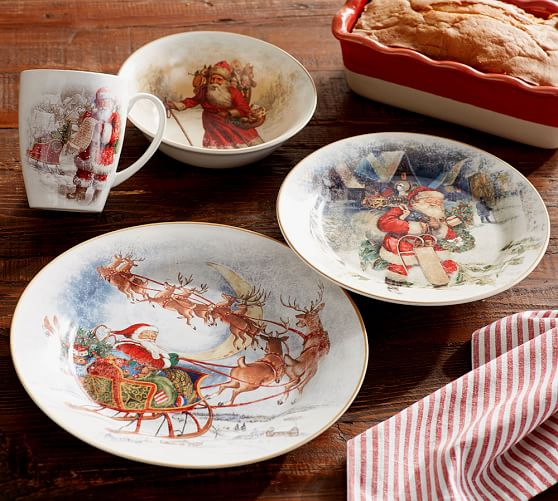 Nostalgic Santa Dinnerware