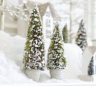 Bottle Brush Tangled Reindeer Ornament Pottery Barn