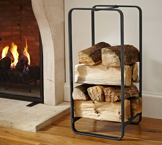 Industrial Fireplace Large Log Holder Pottery Barn