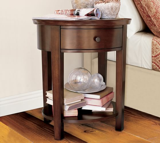 valencia oval bedside table pottery barn