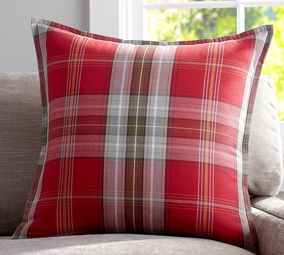 Pottery Barn Plaid Pillow: Newburry Plaid Pillow Cover