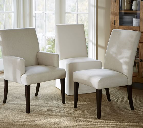 pb comfort square upholstered chair pottery barn