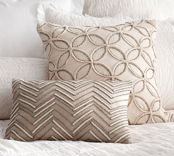 Embellished Beaded Pillow Covers Pottery Barn