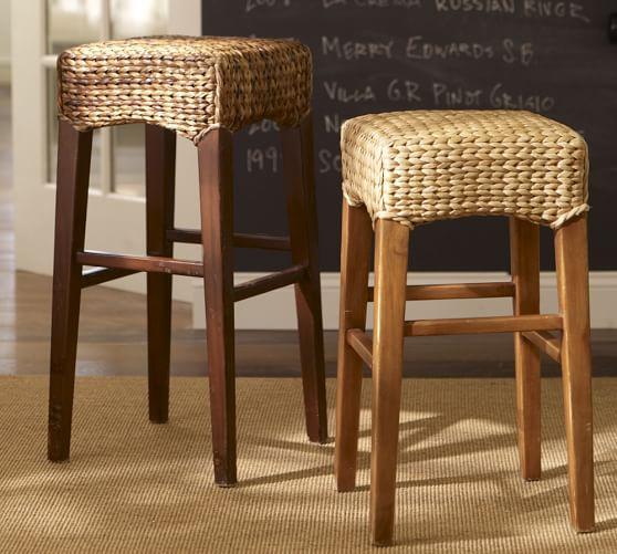 Seagrass Backless Barstool Pottery Barn