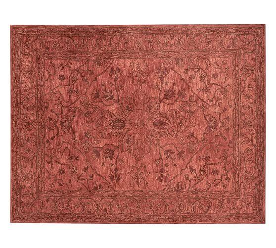 Brady persian rug orange pottery barn - Discontinued pottery barn rugs ...
