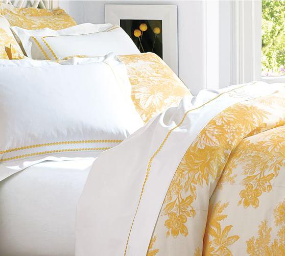 Matine Toile Duvet Cover Amp Sham Marigold Yellow