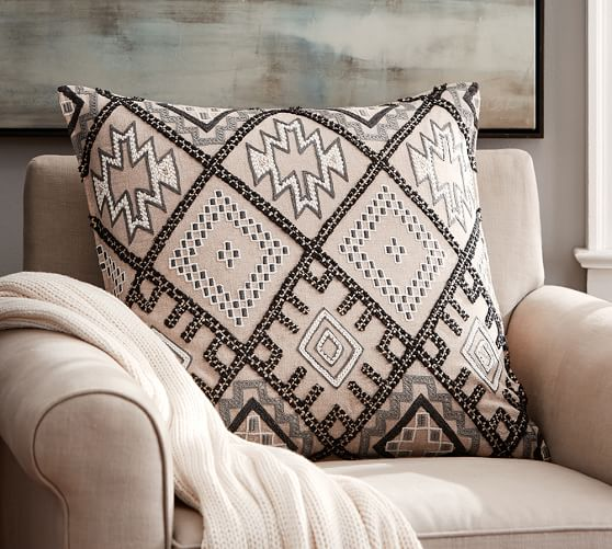 Molly Embroidered Pillow Cover