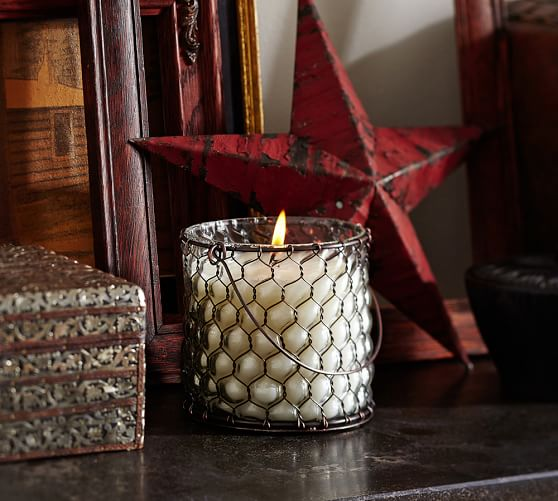 Pottery Barn Furniture Return Policy: Wire Glass Candle Pot