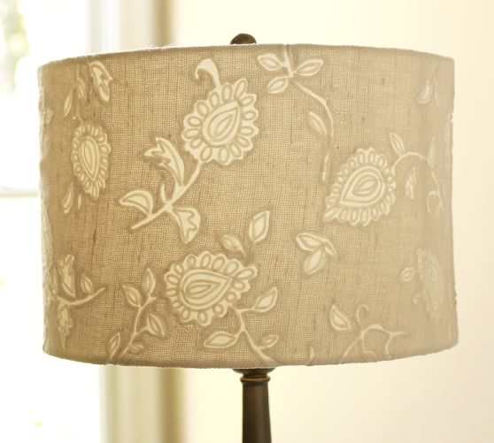Pottery Barn Replacement Lamp Shades: Embroidered Eyelet Drum Lamp Shade