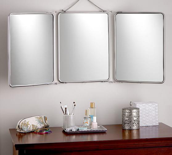 Tri Fold Mirror Pottery Barn