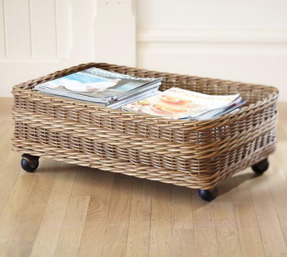 jacquelyne underbed basket pottery barn. Black Bedroom Furniture Sets. Home Design Ideas