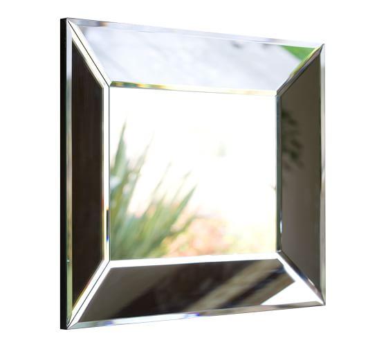 Bevel rectangular mirrors pottery barn for Beveled mirror