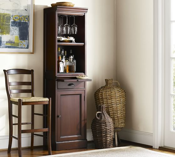 Modular Bar With Cabinet Tower Pottery Barn