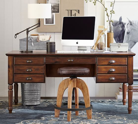 printer 39 s keyhole desk pottery barn