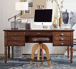 All home office furniture pottery barn for Pottery barn printer s desk reviews