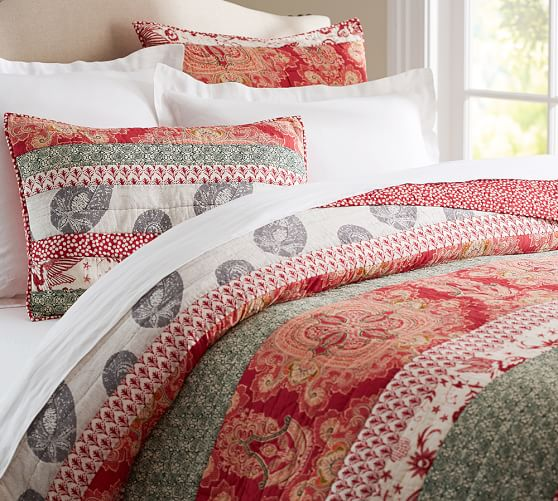 Claire Patchwork Quilt Amp Sham Pottery Barn