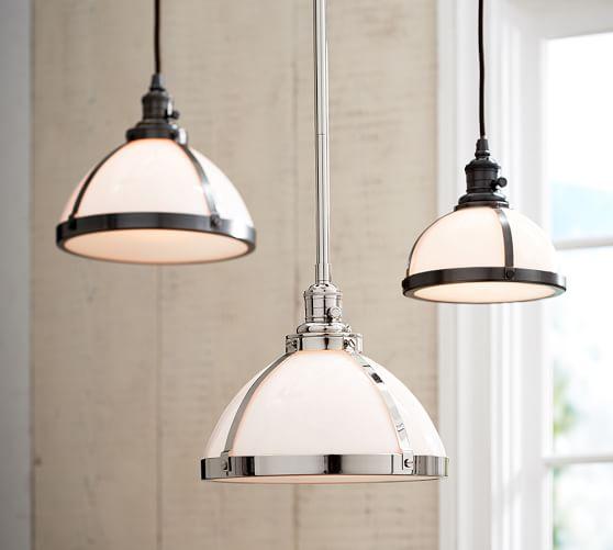 pb classic pendant milk glass pottery barn. Black Bedroom Furniture Sets. Home Design Ideas