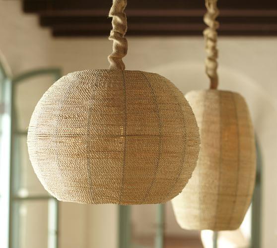 Abaca Woven Pendant Pottery Barn