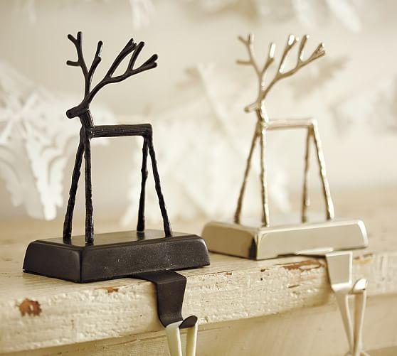 twig reindeer stocking holder