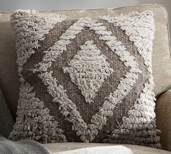 Brown Ivory Shag Pillow Cover