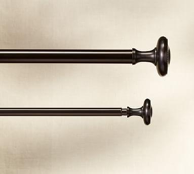 Vintage Beaded Finial Amp Drape Rod Oil Rubbed Bronze