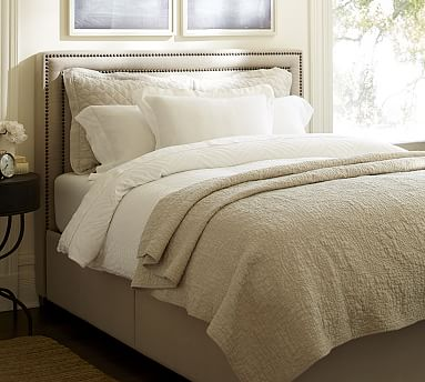 tamsen square upholstered storage platform bed pottery barn. Black Bedroom Furniture Sets. Home Design Ideas