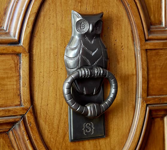 Front Door Pottery: Owl Door Knocker