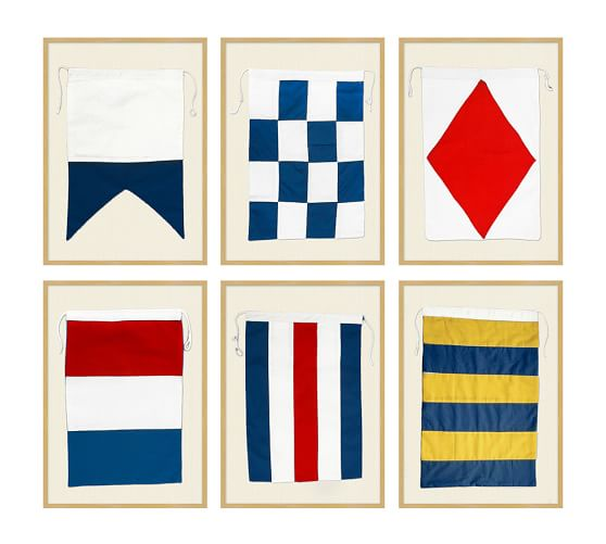 Signal Flag Rug: Framed Nautical Flags