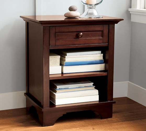 Cynthia bedside table pottery barn for Cynthia storage bed