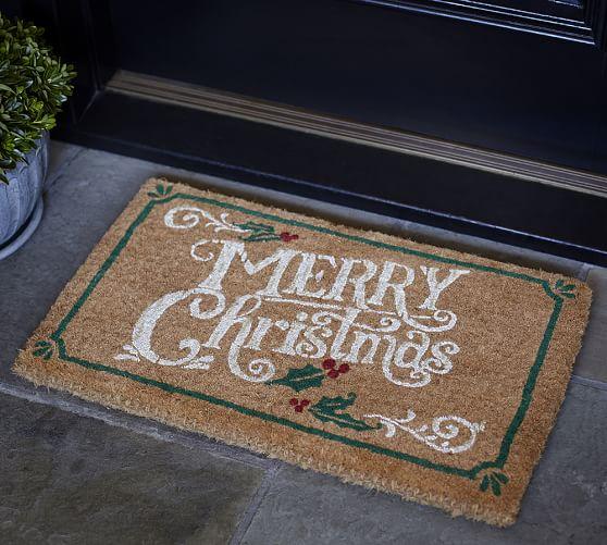 Merry Christmas Doormat Pottery Barn
