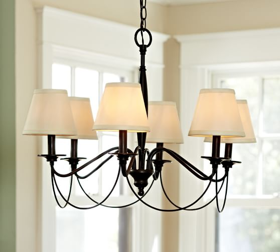 Pottery Barn Replacement Lamp Shades: PB Basic Silk Chandelier Shade, Set Of 3