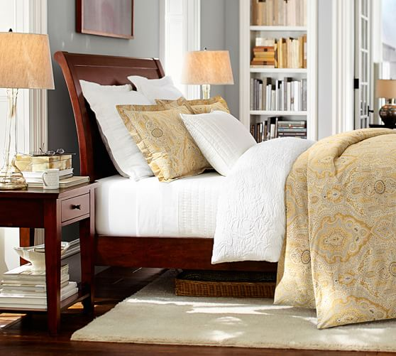 Pottery Barn Com Furniture: Valencia II Sleigh Bed