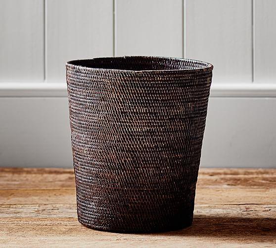 Tava Waste Basket, Espresso stain