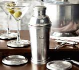 Antique Silver Sentiment Cocktail Shaker